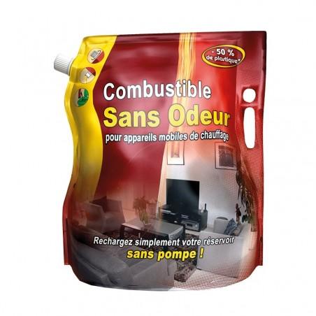 Poche Combustible Pétrole Sans Odeur Marque Flamino 4 litres Sans Pompe pour Poêles et Chauffages