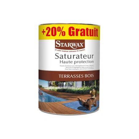 Pot 5 litres saturateur bois marque StarWax 1 litre offert
